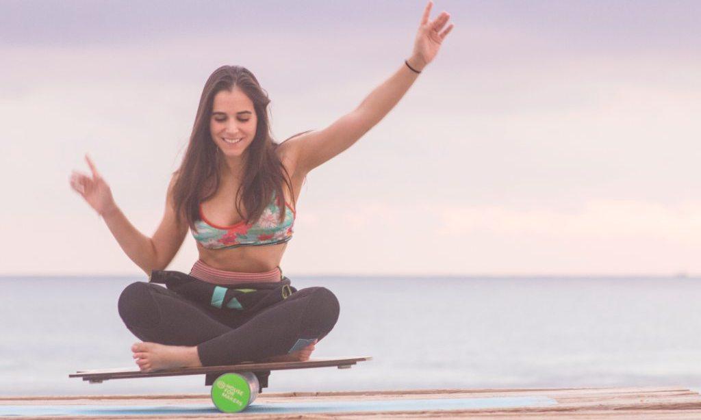 тренировка на баланс борде